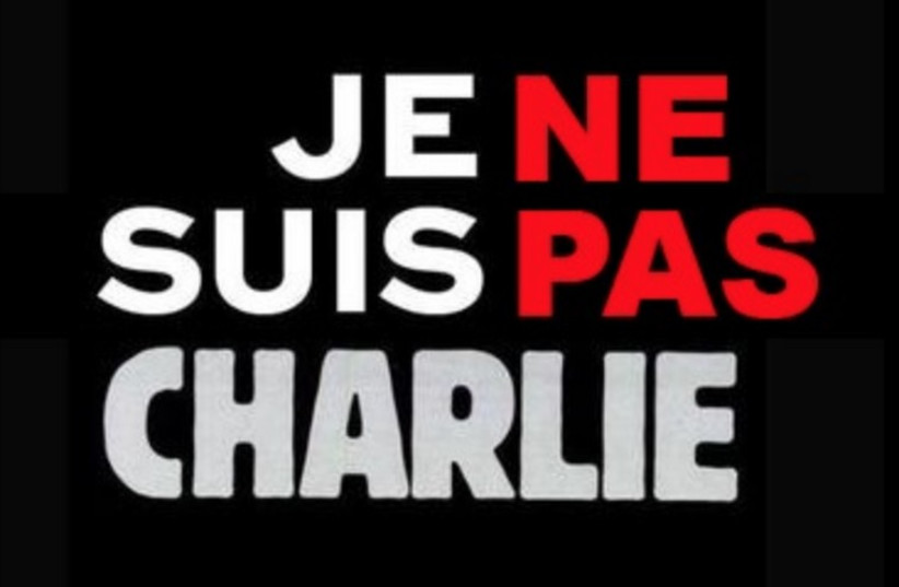 A new hashtag is spreading in French and English with those unsupportive of Charlie Hebdo's attacks on religion (photo credit: TWITTER)