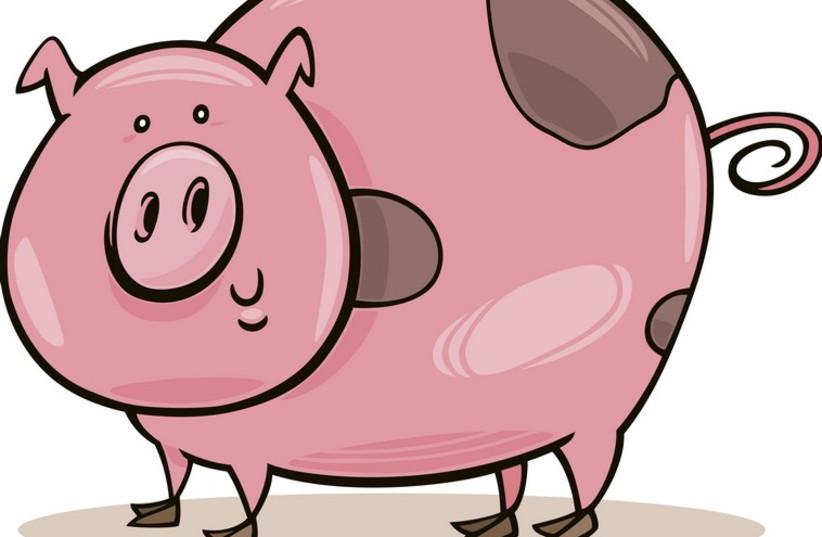 Animated pig (photo credit: INGIMAGE)