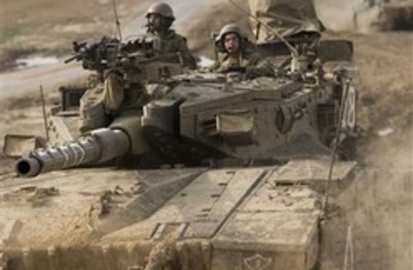 idf tank army gaza soldiers troops 248 (photo credit: AP)