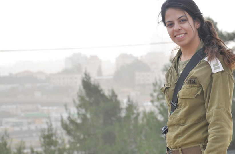 Operations officer Lt. Hila Sharabi's Binyamin territorial brigade has also seen a clear spike in the number of violent incidents (photo credit: IDF SPOKESPERSON'S UNIT)