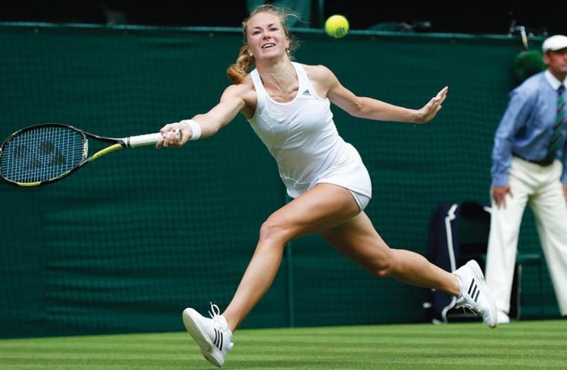 Israeli tennis star Julia Glushko in action (photo credit: REUTERS)