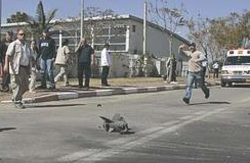 Kassam Sderot running 248.88 (photo credit: AP)