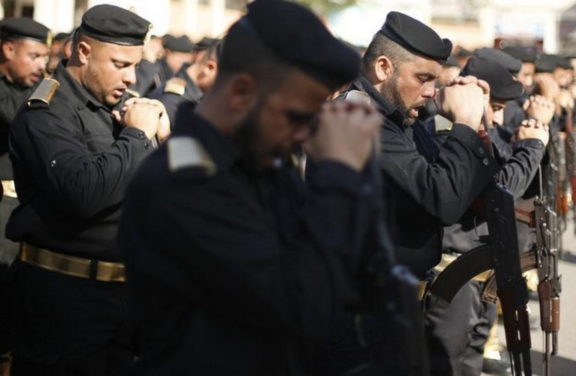 Palestinian security forces (photo credit: REUTERS)