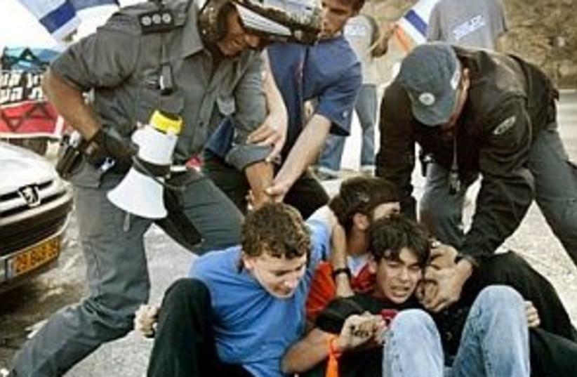 roadblocking youth 298  (photo credit: AP [file])