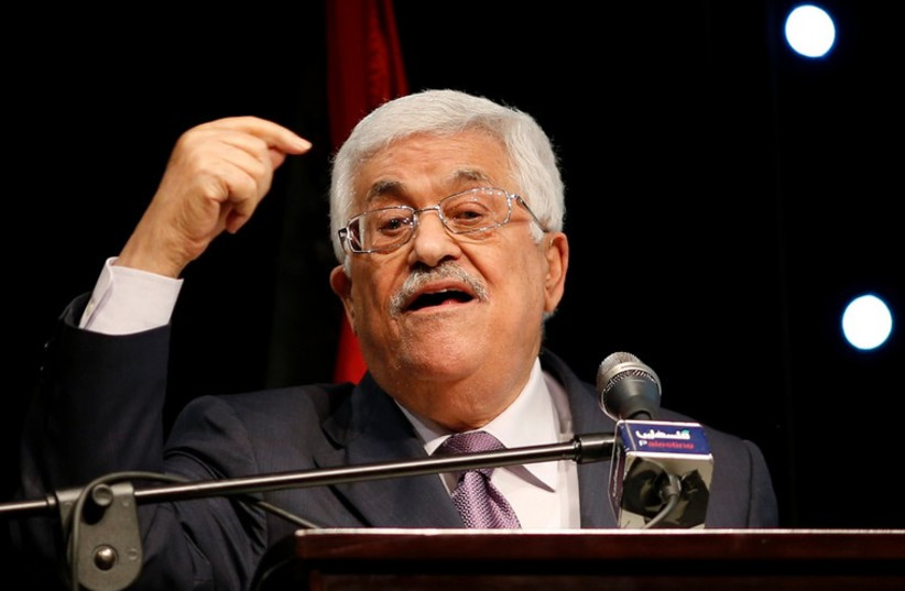 Palestinian Authority President Mahmoud Abbas gestures as he speaks in the West Bank city of Ramallah (photo credit: REUTERS)