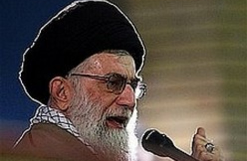 Khamenei with a halo 248.88 (photo credit: AP [file])