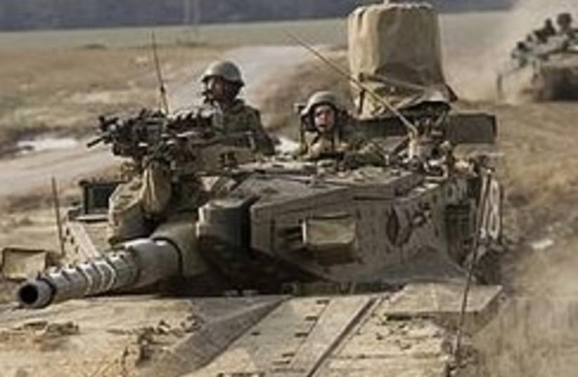 IDF tank on Gaza border 248.88 (photo credit: AP [file])