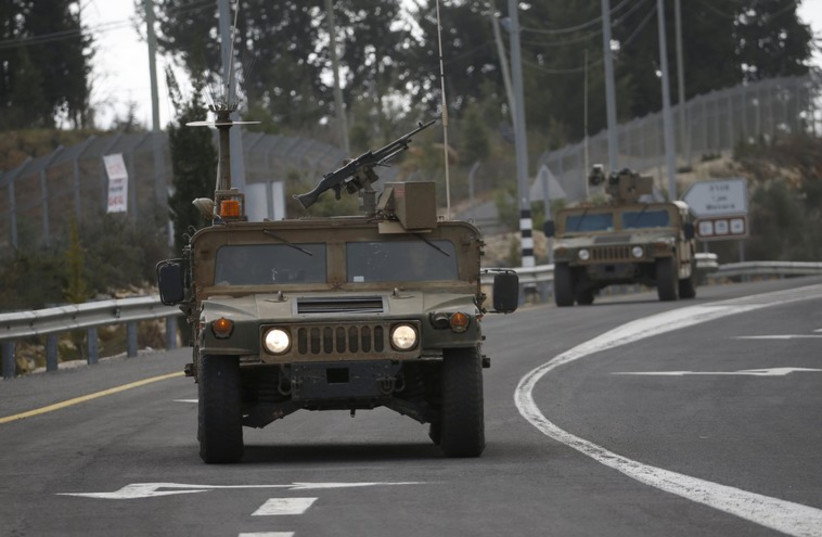 IDF soldiers near border with Lebanon. (photo credit: REUTERS)