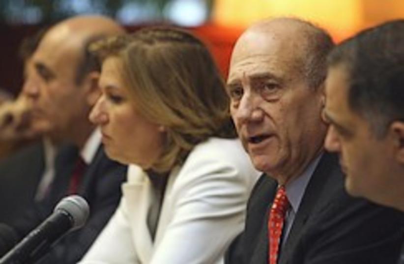 Olmert livni cabinet 248.88 (photo credit: AP [file])