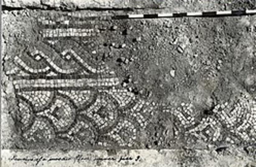 aksa excavations mosaic 248 88 (photo credit: Courtesy of Israel Antiquities Authority.)