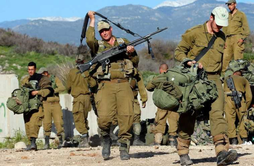 IDF soldiers near the Israel-Lebanon border (photo credit: REUTERS)