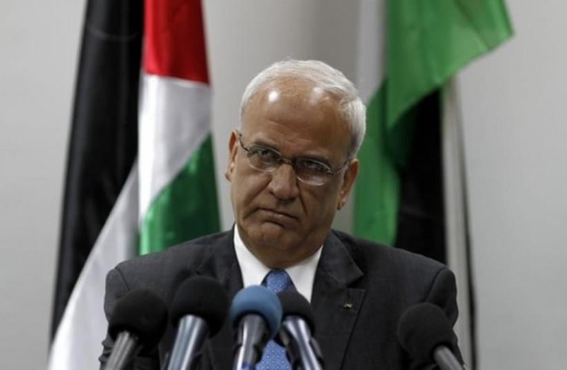 Chief Palestinian negotiator Saeb Erekat (photo credit: REUTERS)