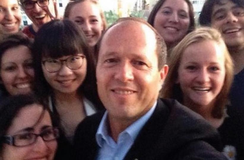 The 'ambassadors' with Jerusalem Mayor Nir Barkat (photo credit: Courtesy)