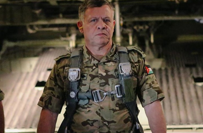 Jordan's King Abdullah in an army uniform taken from the King's facebook account after he swore to increase war against ISIS (photo credit: FACEBOOK)