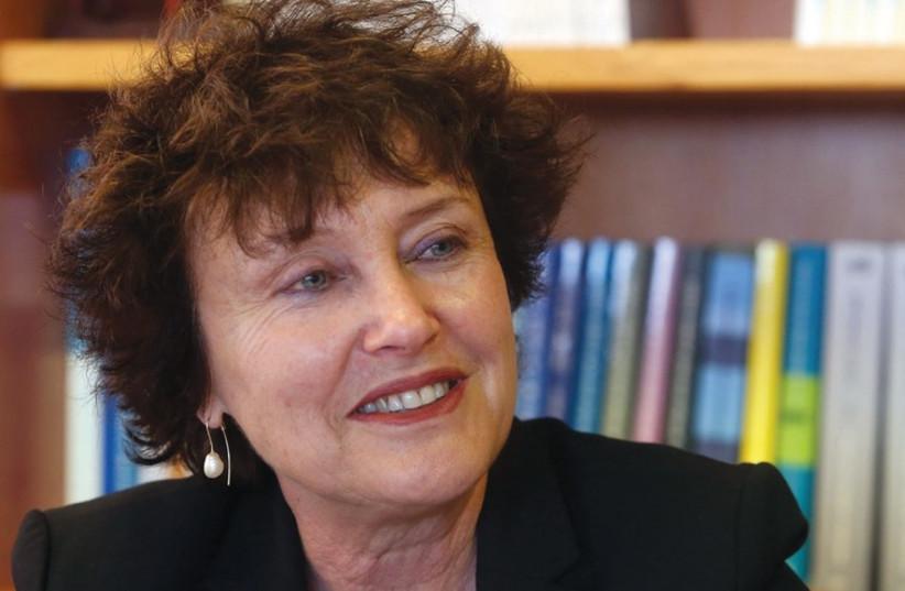 Karnit Flug at her office on February 3, 2015 (photo credit: MARC ISRAEL SELLEM)
