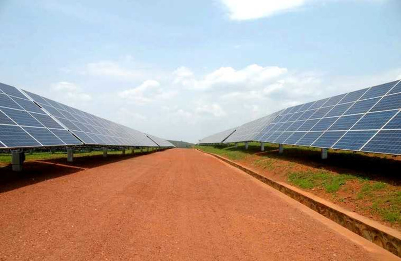 The first solar field in east Africa (photo credit: SHARON UDASIN)