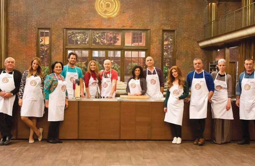 THE CONTESTANTS on the VIP season of 'Master Chef' this year pose in the show's kitchen. (photo credit: FACEBOOK)