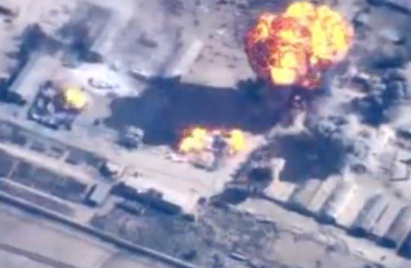 Air strikes against ISIS targets [file] (photo credit: screenshot)