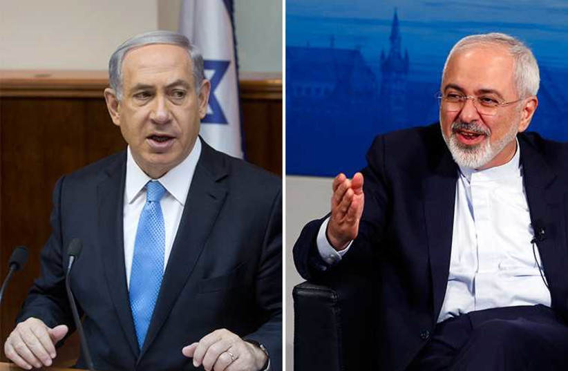 Netanyahu and Zarif (photo credit: REUTERS)