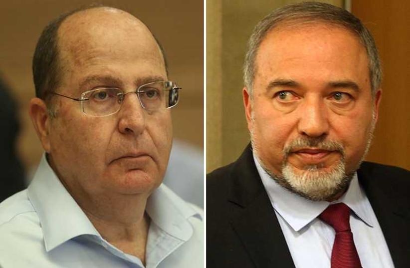 Liberman and Ya'alon (photo credit: MARC ISRAEL SELLEM/THE JERUSALEM POST)