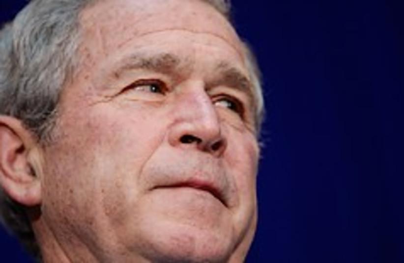 bush big face 248.88 (photo credit: AP)