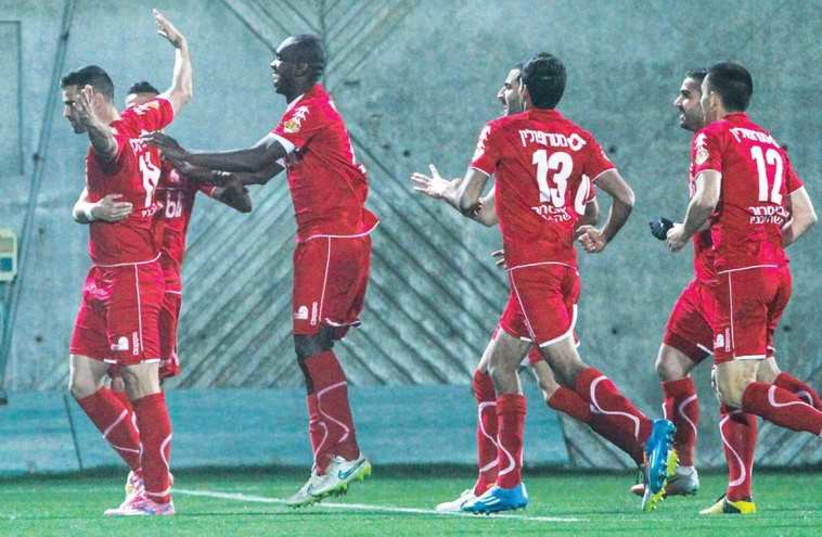 Hapoel Beersheba takes a win over Maccabi Yavne in the first leg of the State Cup quarterfinals (photo credit: ADI AVISHAI)