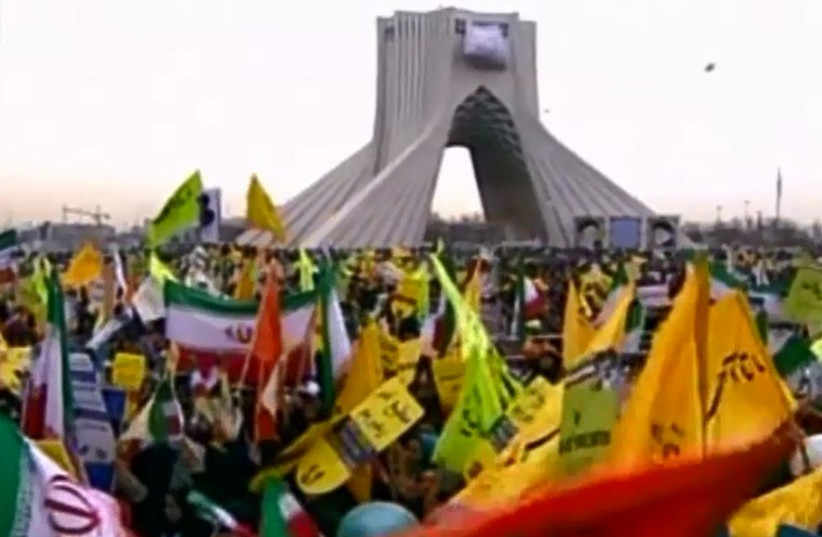 Iran marks the 36th anniversary of the Islamic revolution (photo credit: screenshot)