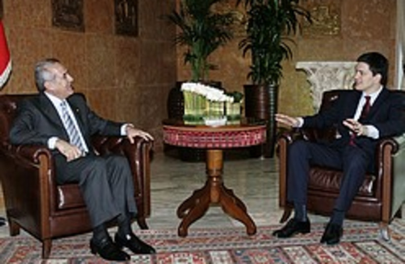 miliband suleiman 248 88 ap (photo credit: AP)