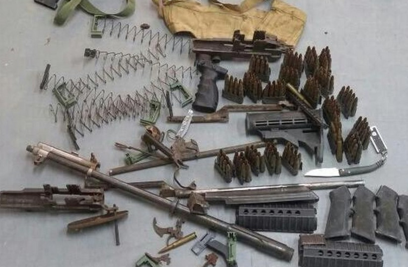 Ammunition seized from Hamas operatives by the IDF (photo credit: IDF)