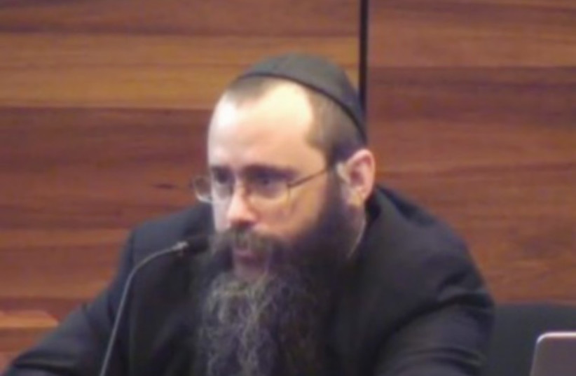 RABBI YOSEF FELDMAN testifies before Australia's Royal Commission into Institutional Responses to Child Sexual Abuse last week. (photo credit: screenshot)