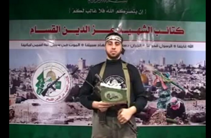 """Izzadin Al-Kassam operative Abdullah Murtaja appeared on the list of 17 """"journalists"""" killed in the summer conflict between Hamas and Israel (photo credit: YOUTUBE SCREENSHOT)"""