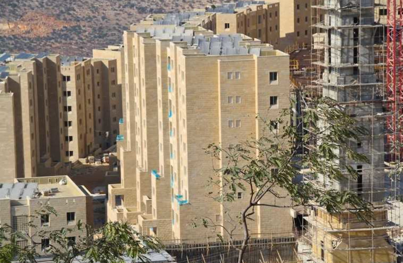 Rawabi, the first modern planned Palestinian city (photo credit: TOVAH LAZAROFF)