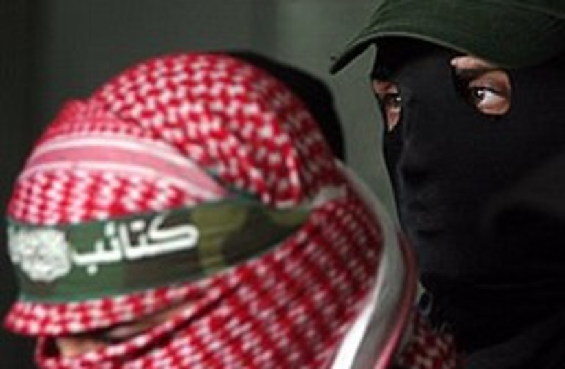 hamas gunmen badass headband 248 88 (photo credit: AP)