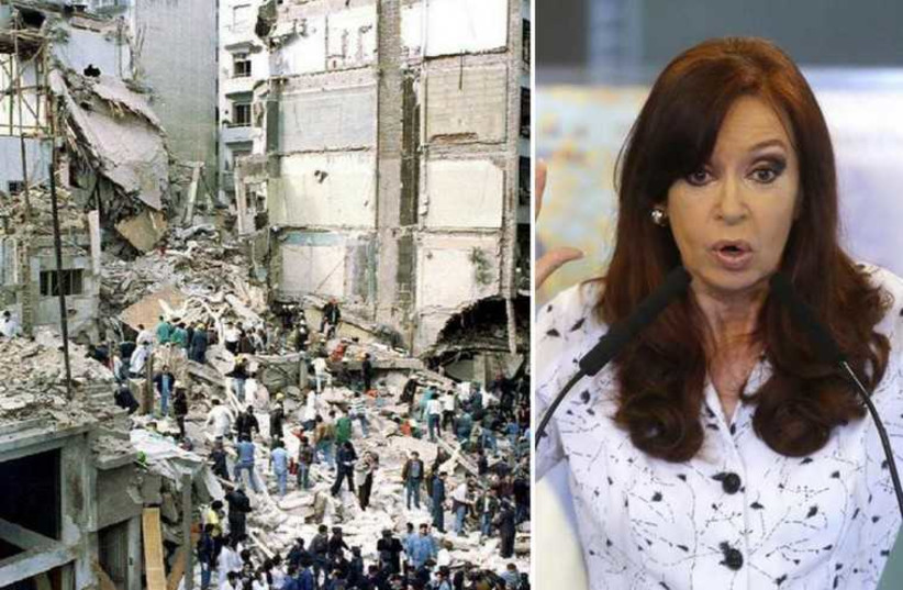 Argentina's President Cristina Fernandez de Kirchner is suspected of covering up Iran's role in the AMIA bombing of 1994 (photo credit: REUTERS)