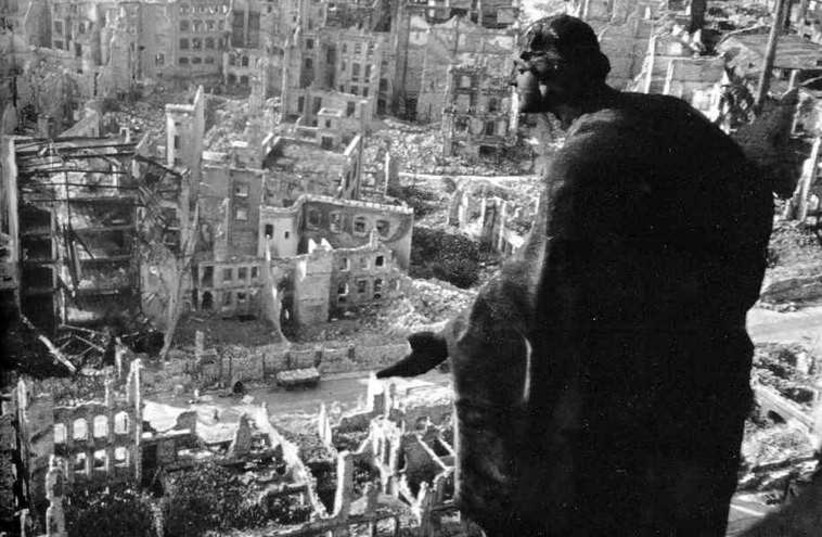 The scene in Dresden after Allied bombing in 1945 (photo credit: Wikimedia Commons)