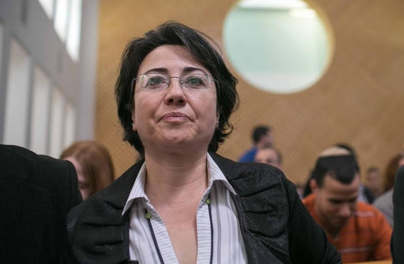 MK Haneen Zoabi at the High Court of Justice (photo credit: NOAM MOSKOVICH)