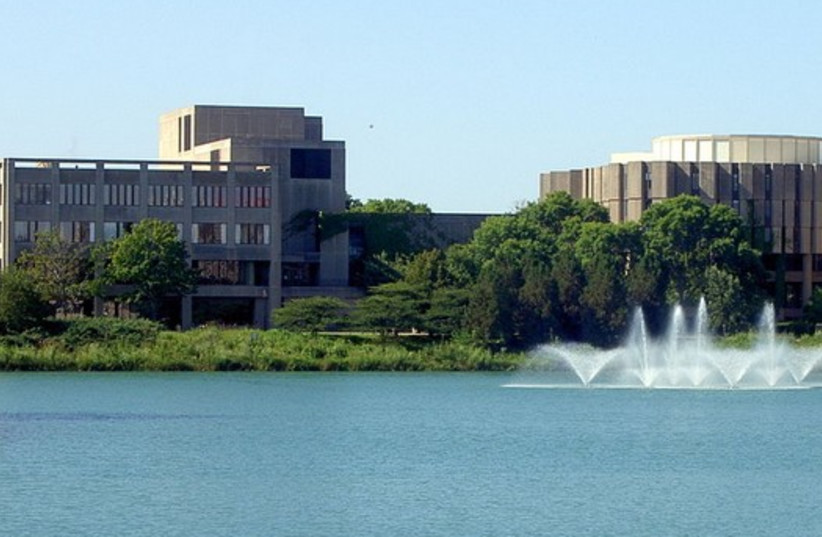 Northwestern University's student union and library buildings (photo credit: Wikimedia Commons)