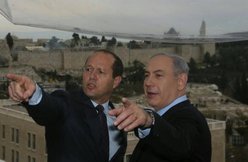 Benjamin Netanyahu and Nir Barkat (photo credit: MARC ISRAEL SELLEM/THE JERUSALEM POST)