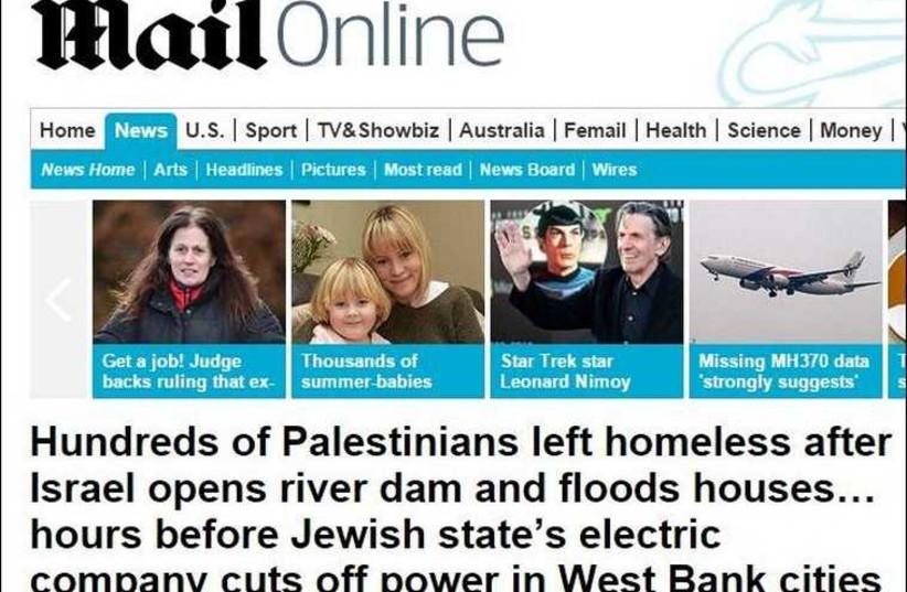 Screenshot of the original 'Daily Mail' article (photo credit: screenshot)