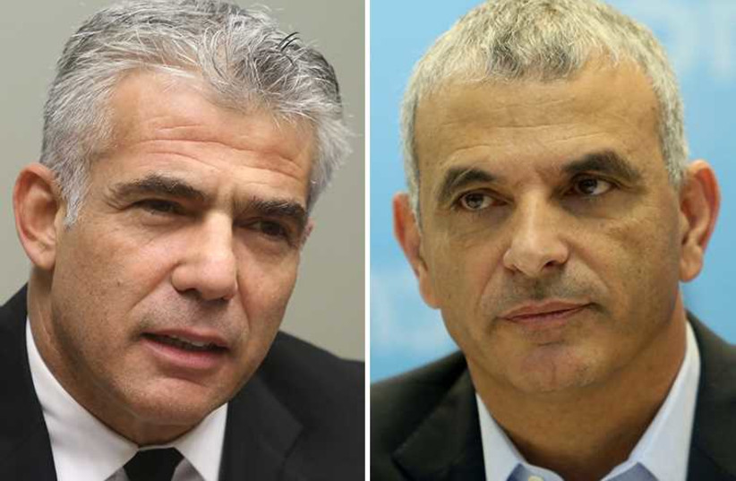 Lapid and Kahlon (photo credit: MARC ISRAEL SELLEM/THE JERUSALEM POST)