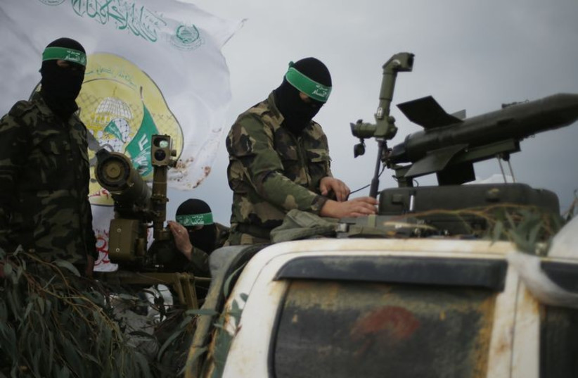 Hamas terrorists (photo credit: REUTERS)