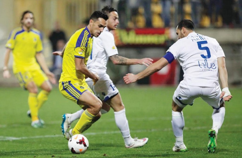 Maccabi Tel Aviv's Eran Zahavi  (photo credit: ADI AVISHAI)