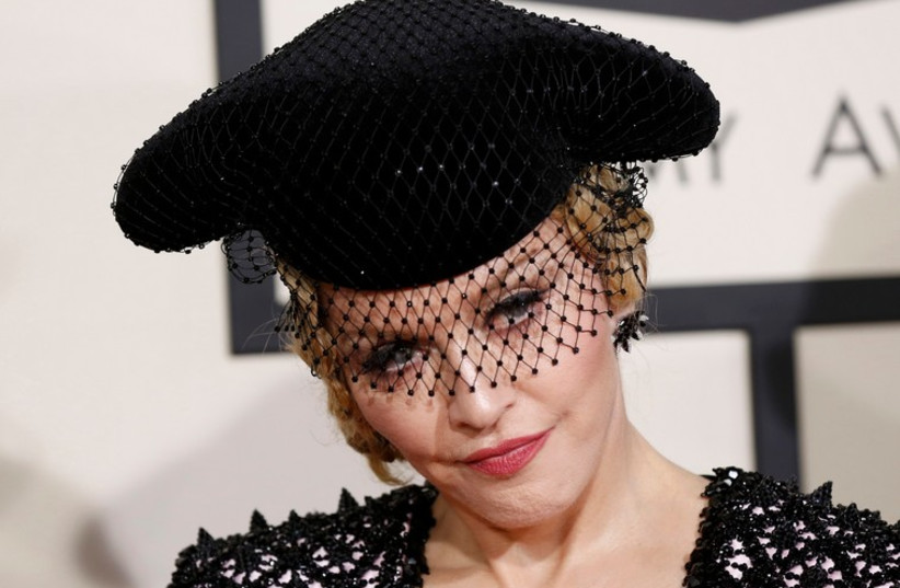 Madonna arrives at the 57th annual Grammy Awards in Los Angeles (photo credit: REUTERS)