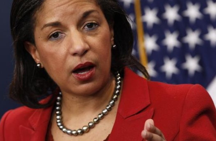 US national security advisor Susan Rice (photo credit: REUTERS)