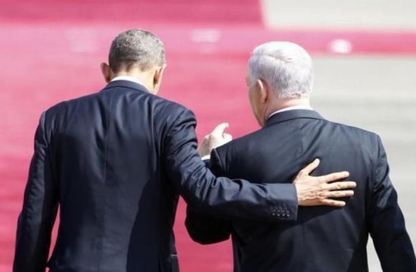 US President Barack Obama and Prime Minister Benjamin Netanyahu.  (photo credit: REUTERS)