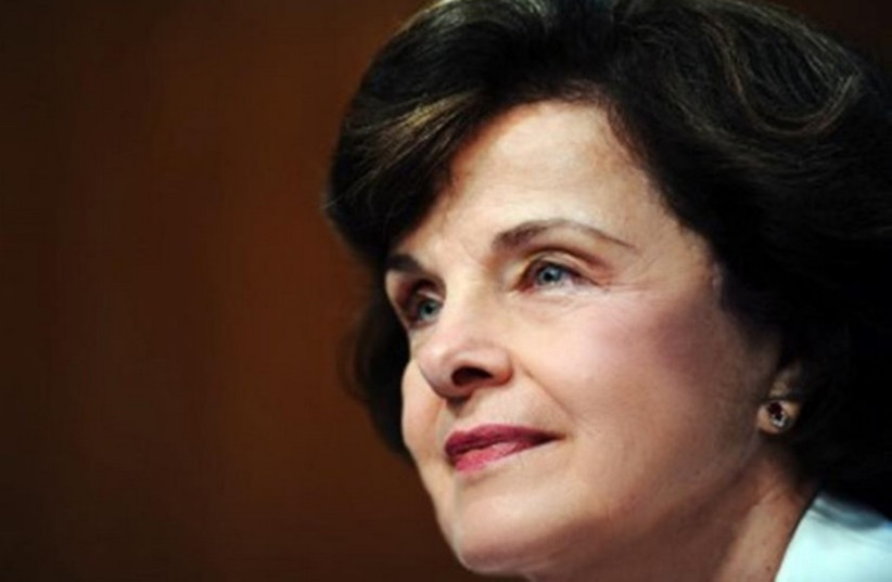 US Senator Diane Feinstein (D - Ca.) (photo credit: FACEBOOK)