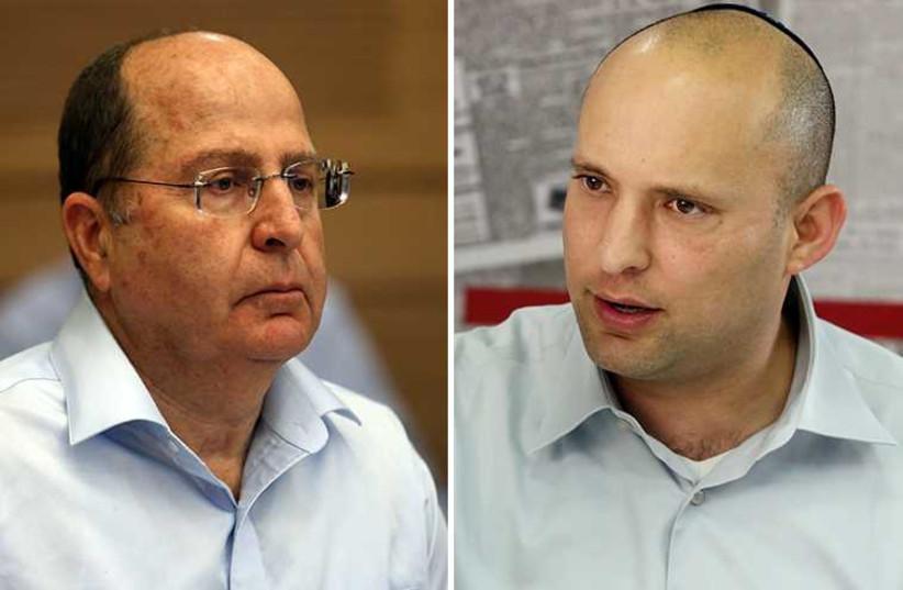 Ya'alon and Bennett (photo credit: MARC ISRAEL SELLEM/THE JERUSALEM POST)
