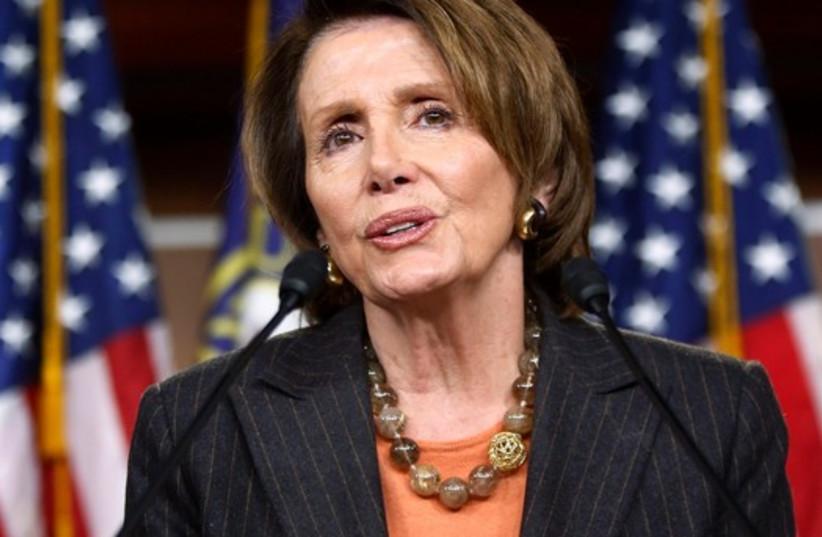 U.S. House Minority Leader Nancy Pelosi (D-CA) (photo credit: REUTERS)