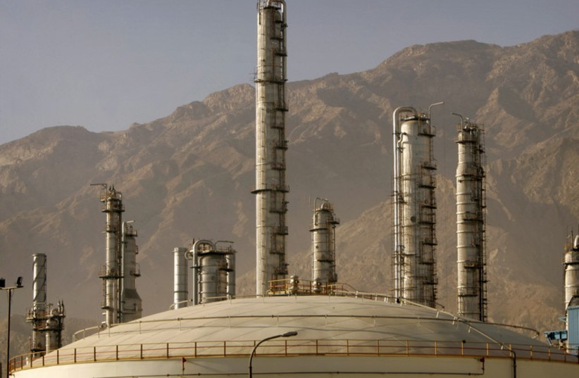 A view of a petrochemical complex in Assaluyeh seaport on Iran's Persian Gulf coast  (photo credit: REUTERS)