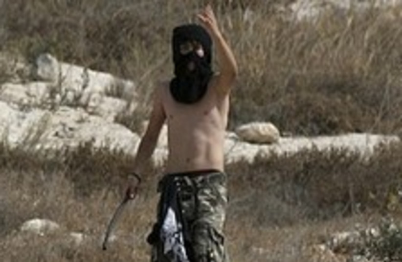 settler very angry 248.88 (photo credit: AP)